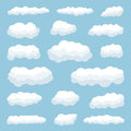 Clouds cartoon against blue sky Royalty Free Stock Photo