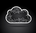 Clouds circuit design over black background vector illustration Royalty Free Stock Photos