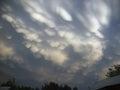 Clouds. Clouds in the steppe.