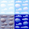 Clouds collection Royalty Free Stock Images