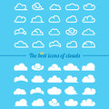 Clouds collection - Set of clouds icons Royalty Free Stock Photo