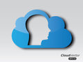 Clouds design human over gray background vector illustration Stock Photography