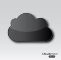 Clouds design over gray background vector illustration Royalty Free Stock Image