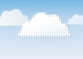 Clouds dot gain an illustration of a cloud with dots Royalty Free Stock Image
