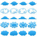 Clouds. Elements for design. Royalty Free Stock Photos