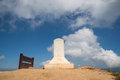 Clouds flying over stone cross on grave at the Royalty Free Stock Photo