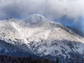 Clouds in High Tatra mountains during winter