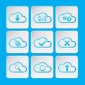 Nubes icono