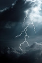 Clouds and lightning cloudy sky illustration Royalty Free Stock Photography