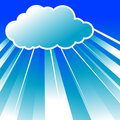 Clouds n rays Royalty Free Stock Images