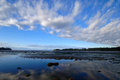 Clouds over the bay beautiful cloud formation at sunrise on san juan island s false Royalty Free Stock Image