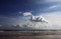 Clouds over beach Royalty Free Stock Photo