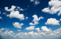 Clouds over the blue sky abstract Royalty Free Stock Photo