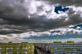 Clouds over Bucharest, Pantelimon district. Royalty Free Stock Photo
