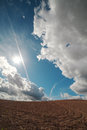 Clouds over land. Royalty Free Stock Photo
