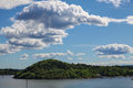 Clouds over the oslo fjord norway Stock Photo