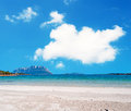 Clouds over porto istana huge cloud sardinia Royalty Free Stock Photography