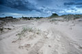 Clouds over sand dunes in netherlands drents friese wold drenthe friesland Stock Images