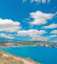 Clouds over santa caterina huge sardinia Stock Image