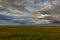 Clouds over the steppe russia rostov region Royalty Free Stock Photos