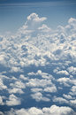Clouds from a plane Royalty Free Stock Image
