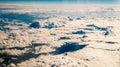 Clouds through plane window Royalty Free Stock Photo