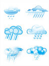 Clouds with rain Royalty Free Stock Images