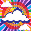 Clouds and rays solar circles colorful illustration background of of the sun for your text Royalty Free Stock Photos