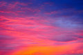 Clouds red sky Royalty Free Stock Photo