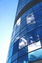 Clouds reflected onto modern building Royalty Free Stock Photos