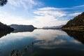 Clouds reflecting in Koycegiz Lake, Mugla, Turkey Royalty Free Stock Photo