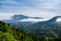Clouds rolling between hills of himachal Royalty Free Stock Photo