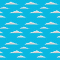 Clouds seamless is an illustration of a design of floating great for backgrounds and textures Stock Image