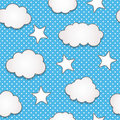 Clouds seamless pattern Stock Photos