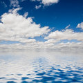 Clouds on the seawater Stock Images