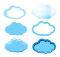 Clouds set isolated on white background Stock Photos