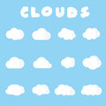 Clouds sign in the sky vector symbols Royalty Free Stock Photography