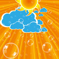 Clouds sun and bubbles  Royalty Free Stock Photography