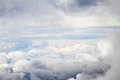 Cloudscape with an aerial view over the clouds Royalty Free Stock Photo