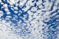 Cloudscape with altocumulus clouds on a sunny day