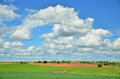 Cloudscape beautiful in spanish meseta Stock Photography