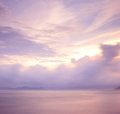 Cloudscape at morning and sea Royalty Free Stock Photos
