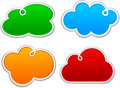 Cloudscape notification paper shapes. Royalty Free Stock Image