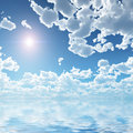 Cloudscape over sea Royalty Free Stock Image