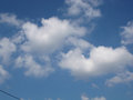 Cloudy on the blue sky background Royalty Free Stock Photo