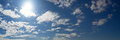 Cloudy blue sky panorama Royalty Free Stock Photo