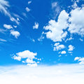 Cloudy blue sky summer day background Royalty Free Stock Image