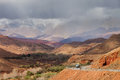 Cloudy day in atlas mountains morocco africa Royalty Free Stock Image