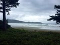 Cloudy day on Cox Bay, Tofino, British Columbia, Canada Royalty Free Stock Photo
