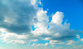Cloudy skies an image of a blue sky filled with large cumuls Royalty Free Stock Photo